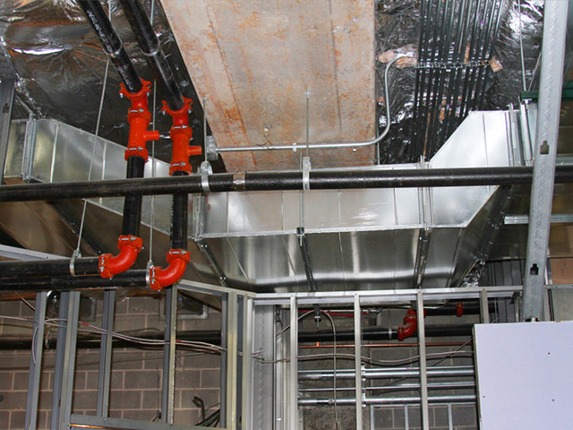 Fish Restaurant Ductwork and gas piping by Crystal Heating and Cooling