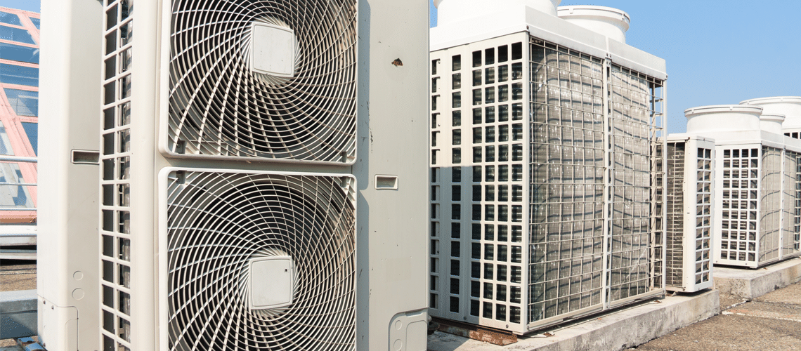commercial air conditioning on top of a roof