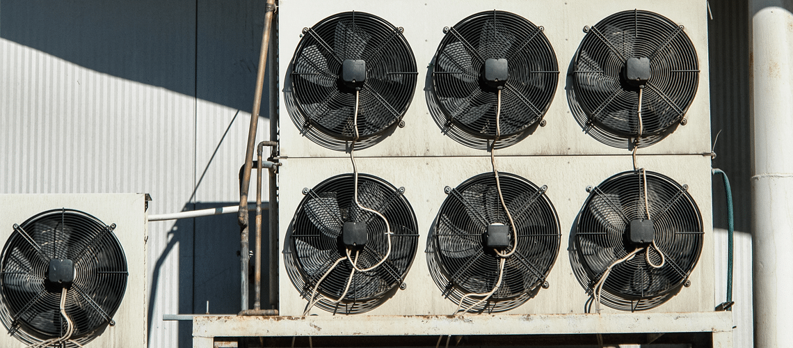 fan components of commercial air conditioning units