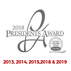Carrier Presidents Award - 2014, 2015, 2018 & 2019