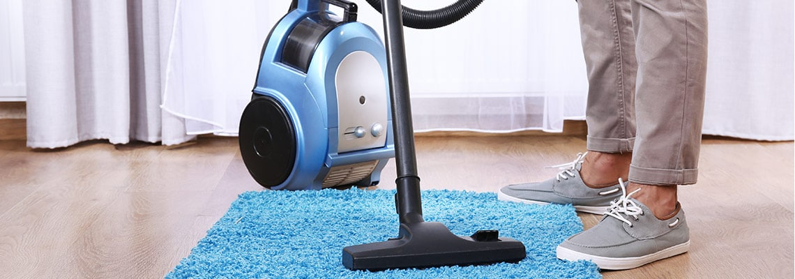 vacuum up dust
