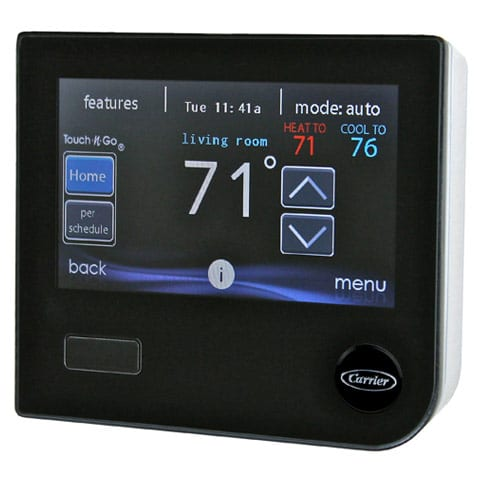 new Carrier digital a/c thermastat