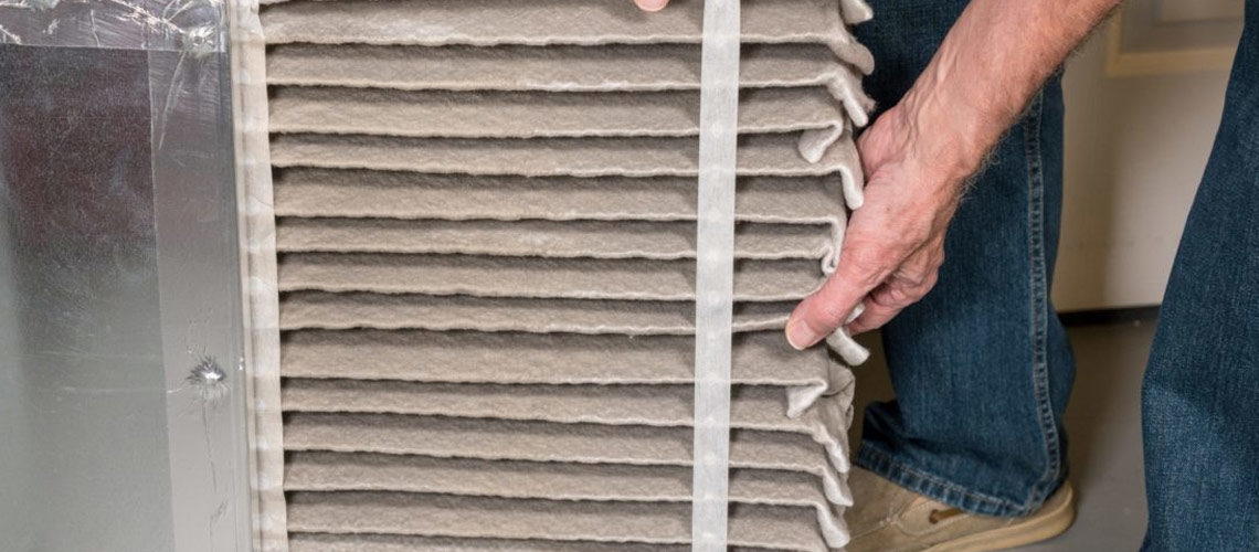 changing dirty HVAC filter