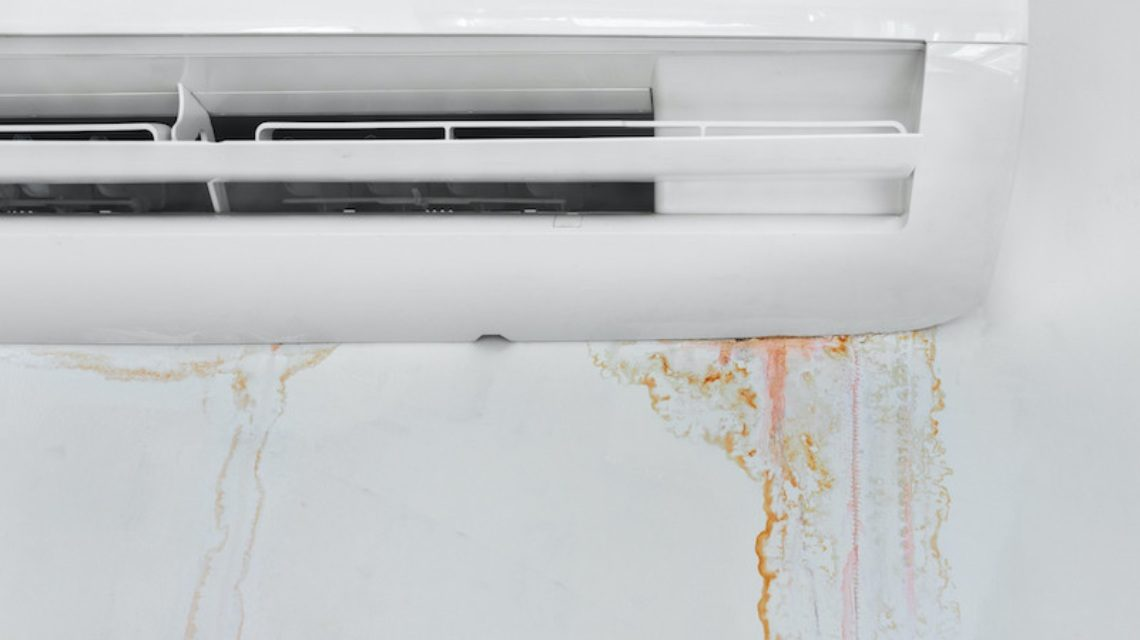 air-conditioner leaking water inside