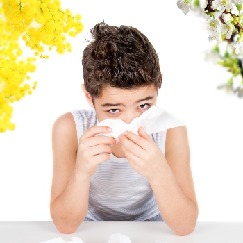 child with allergies